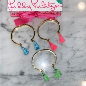 Lilly Pulitzer three bangles with tassels